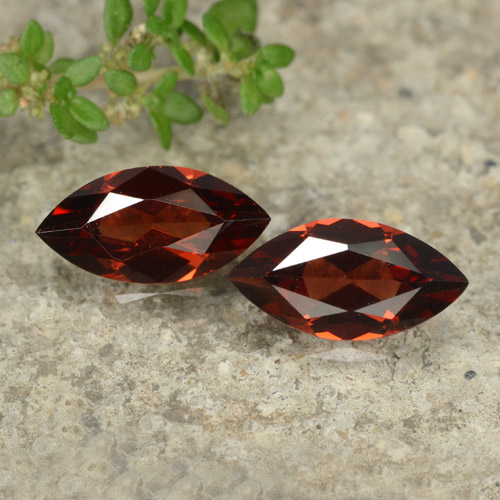 Dark Red Pyrope Garnet Gem - 1.2ct Marquise Facet (ID: 479042)