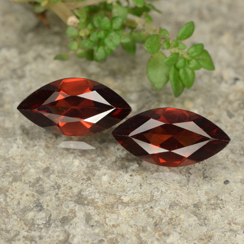 1.3ct Marquise Facet Red Pyrope Garnet Gem (ID: 479044)