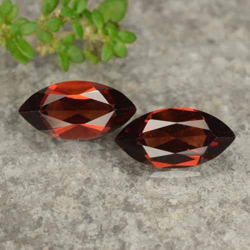 Red Pyrope Garnet Gem - 1.2ct Marquise Facet (ID: 479046)