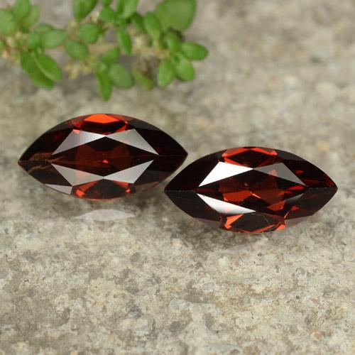 Red Pyrope Garnet Gem - 1.4ct Marquise Facet (ID: 479047)