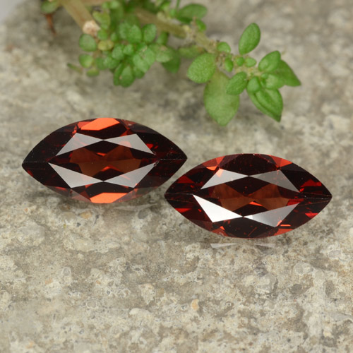 Red Pyrope Garnet Gem - 1.1ct Marquise Facet (ID: 479051)