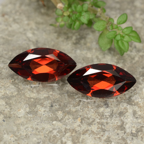 Red Pyrope Garnet Gem - 1.1ct Marquise Facet (ID: 479052)