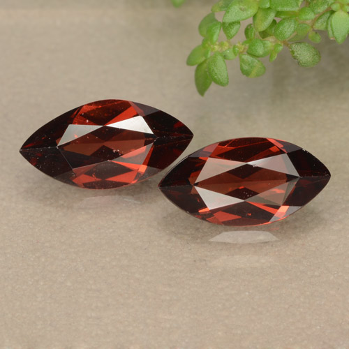Red Pyrope Garnet Gem - 1.2ct Marquise Facet (ID: 479068)