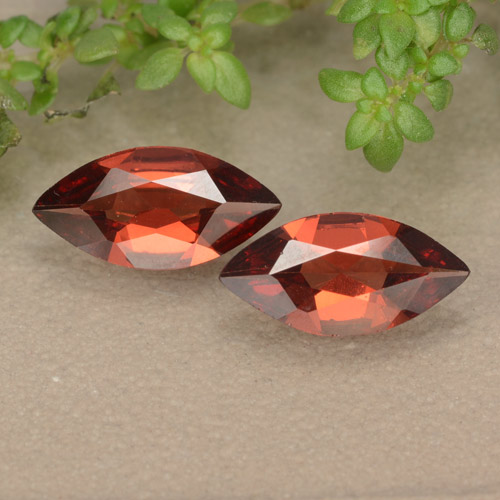 Red Pyrope Garnet Gem - 0.8ct Marquise Facet (ID: 479071)