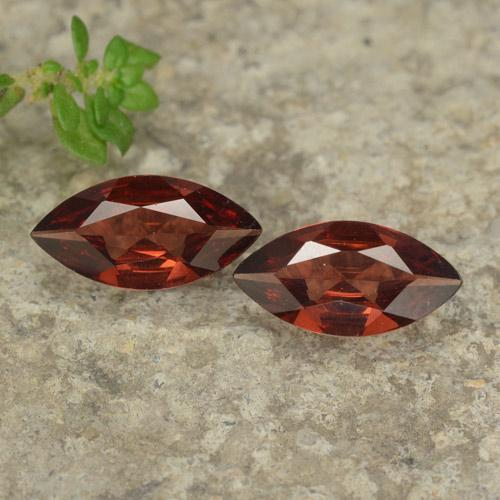 Red Pyrope Garnet Gem - 0.9ct Marquise Facet (ID: 479080)