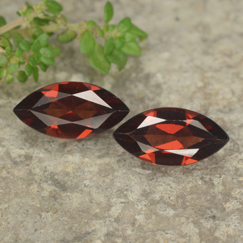 Dark Red Pyrope Garnet Gem - 1.2ct Marquise Facet (ID: 479084)