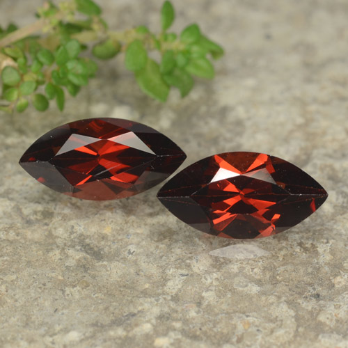 1.4ct Marquise Facet Merlot Red Pyrope Garnet Gem (ID: 479085)