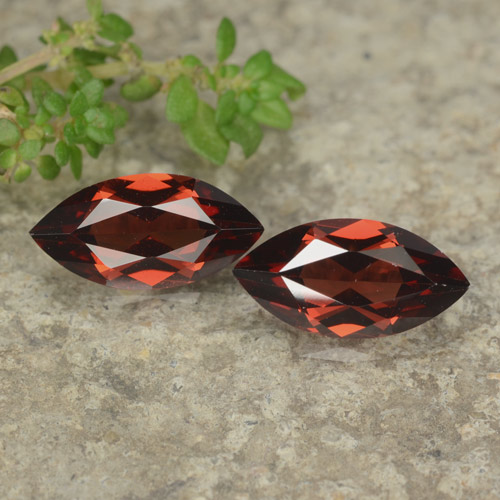 Bright Red Pyrope Garnet Gem - 1.2ct Marquise Facet (ID: 479087)