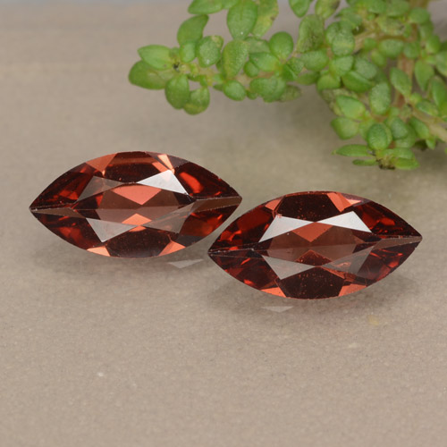 Red Pyrope Garnet Gem - 1ct Marquise Facet (ID: 479104)
