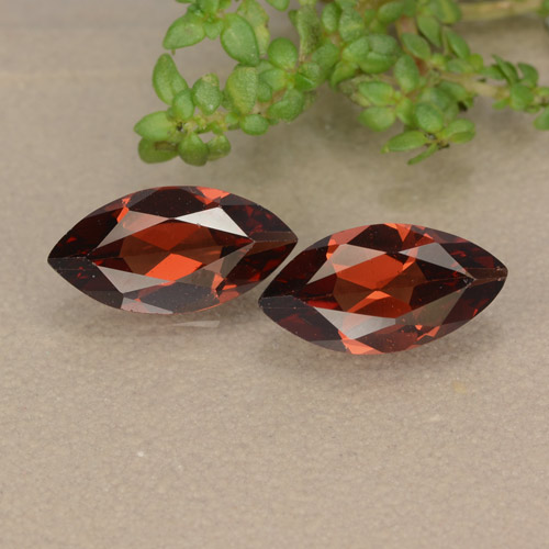 Red Pyrope Garnet Gem - 1.2ct Marquise Facet (ID: 479107)