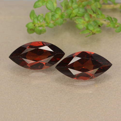 Dark Red Pyrope Garnet Gem - 1.2ct Marquise Facet (ID: 479108)