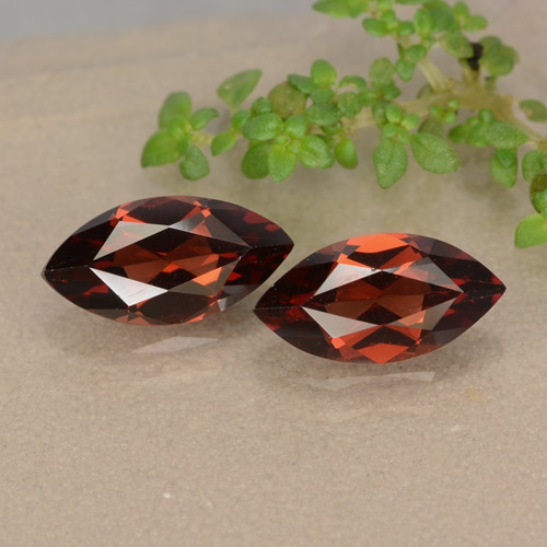 Merlot Red Pyrope Garnet Gem - 1.3ct Marquise Facet (ID: 479153)