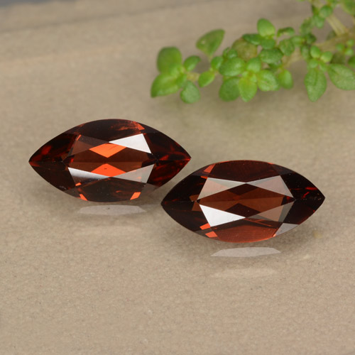 1.2ct Marquise Facet Merlot Red Pyrope Garnet Gem (ID: 479156)