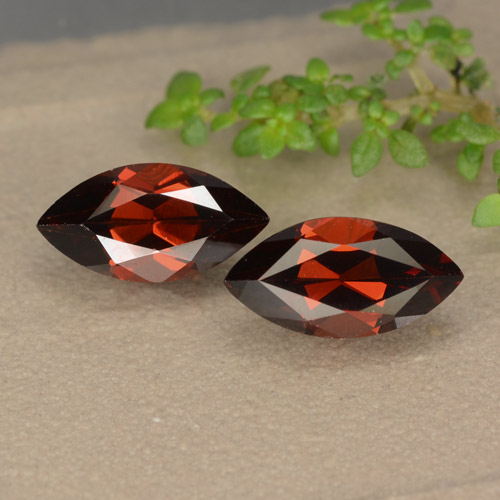 Red Pyrope Garnet Gem - 1.4ct Marquise Facet (ID: 479158)