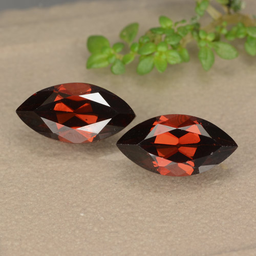 Red Pyrope Garnet Gem - 1.5ct Marquise Facet (ID: 479160)