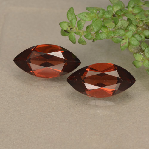 Red Pyrope Garnet Gem - 1.3ct Marquise Facet (ID: 479198)