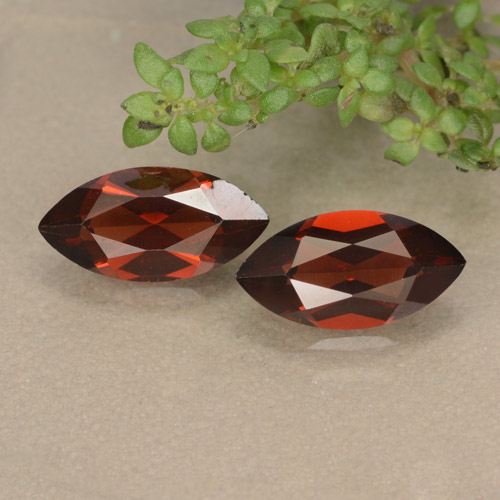 Red Pyrope Garnet Gem - 1.3ct Marquise Facet (ID: 479204)