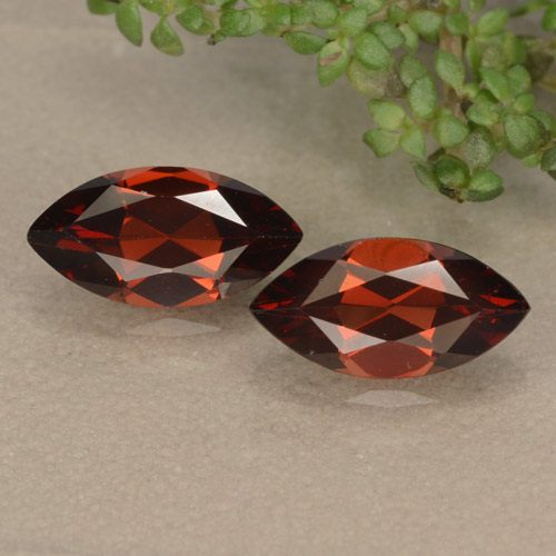 Deep Red Pyrope Garnet Gem - 1.3ct Marquise Facet (ID: 479205)