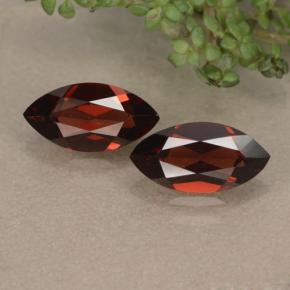 Dark Red Pyrope Garnet Gem - 1.3ct Marquise Facet (ID: 479206)
