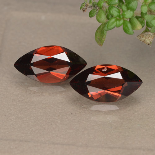 Red Pyrope Garnet Gem - 1.3ct Marquise Facet (ID: 479246)