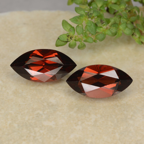 Medium Red Pyrope Garnet Gem - 1.4ct Marquise Facet (ID: 479285)