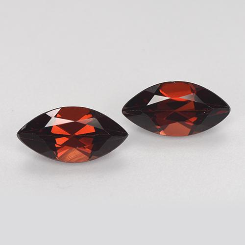 Red Pyrope Garnet Gem - 1.2ct Marquise Facet (ID: 479286)