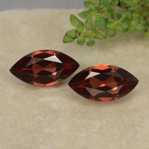 Red Pyrope Garnet Gem - 1.2ct Marquise Facet (ID: 479288)