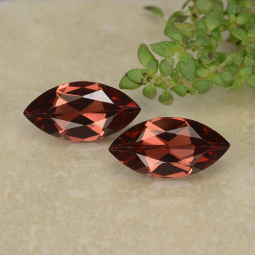 Red Pyrope Garnet Gem - 1.1ct Marquise Facet (ID: 479290)