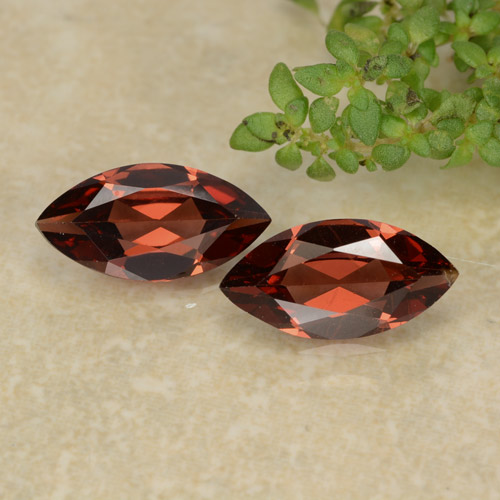 Red Pyrope Garnet Gem - 1.2ct Marquise Facet (ID: 479291)