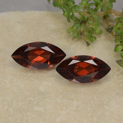 Red Pyrope Garnet Gem - 1.2ct Marquise Facet (ID: 479292)