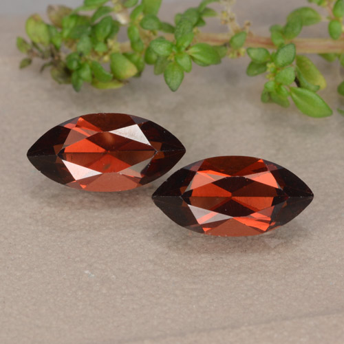 Red Pyrope Garnet Gem - 1.4ct Marquise Facet (ID: 479320)