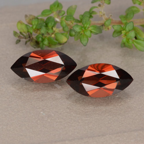 Red Pyrope Garnet Gem - 1.5ct Marquise Facet (ID: 479321)