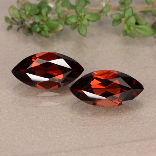 Red Pyrope Garnet Gem - 1.4ct Marquise Facet (ID: 479323)