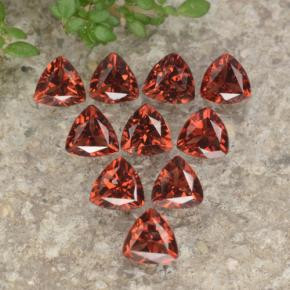 Red Pyrope Garnet Gem - 0.3ct Trillion Facet (ID: 479352)