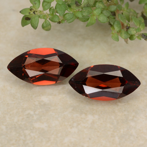 Intense Red Pyrope Garnet Gem - 1ct Marquise Facet (ID: 479365)