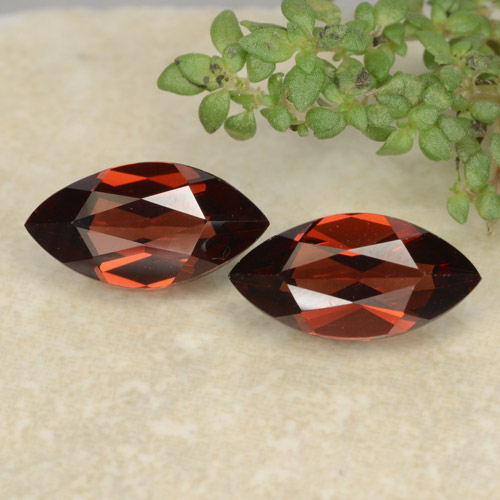 Red Pyrope Garnet Gem - 1.3ct Marquise Facet (ID: 479371)