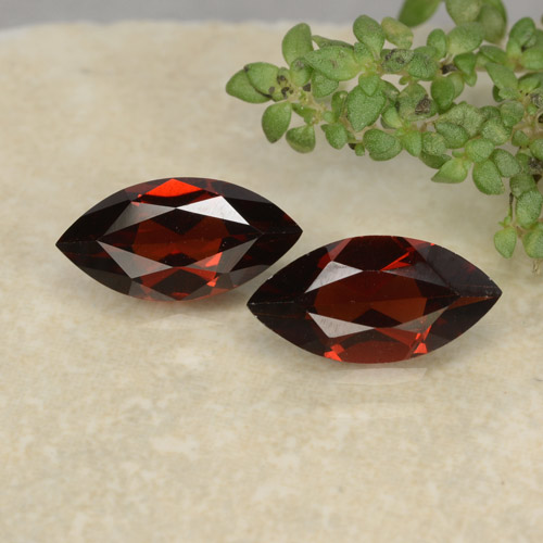 Red Pyrope Garnet Gem - 1.2ct Marquise Facet (ID: 479373)