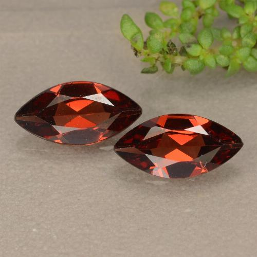 Red Pyrope Garnet Gem - 1ct Marquise Facet (ID: 479404)