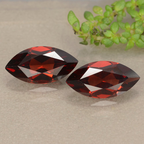 Red Pyrope Garnet Gem - 1.3ct Marquise Facet (ID: 479405)