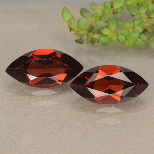 Red Pyrope Garnet Gem - 1.2ct Marquise Facet (ID: 479407)