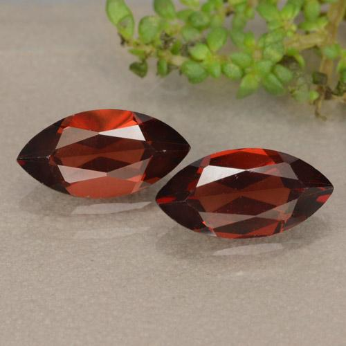 Red Pyrope Garnet Gem - 1.3ct Marquise Facet (ID: 479409)