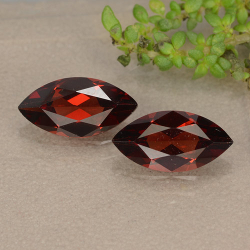 Red Pyrope Garnet Gem - 1.1ct Marquise Facet (ID: 479411)
