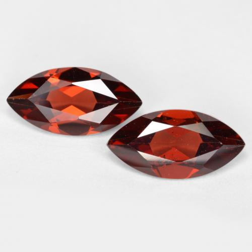 Deep Red Pyrope Garnet Gem - 1.2ct Marquise Facet (ID: 479414)