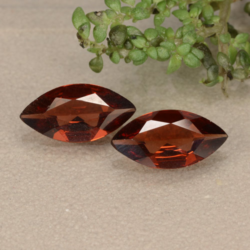 Scarlet Red Pyrope Garnet Gem - 0.8ct Marquise Facet (ID: 479415)