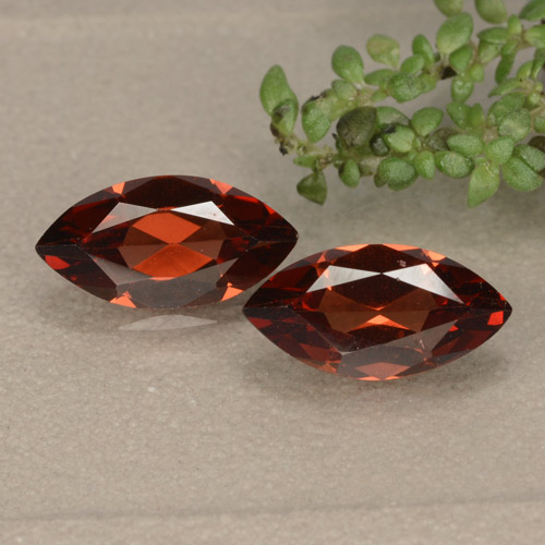 Red Pyrope Garnet Gem - 1.2ct Marquise Facet (ID: 479416)