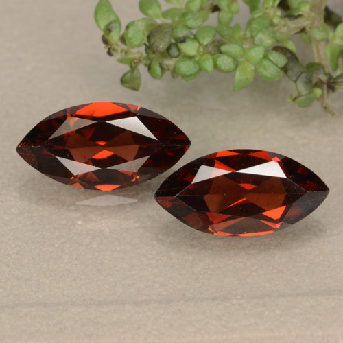 Red Pyrope Garnet Gem - 1.2ct Marquise Facet (ID: 479417)