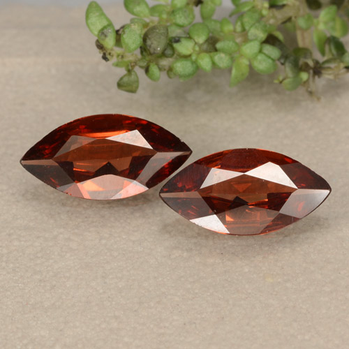 Red Pyrope Garnet Gem - 0.8ct Marquise Facet (ID: 479418)