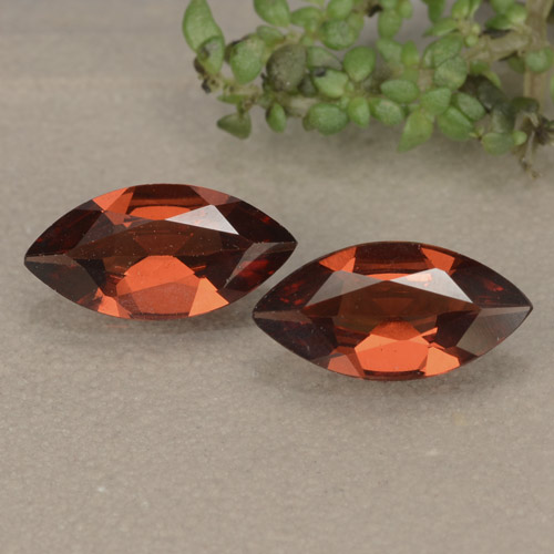 Red Pyrope Garnet Gem - 0.9ct Marquise Facet (ID: 479419)
