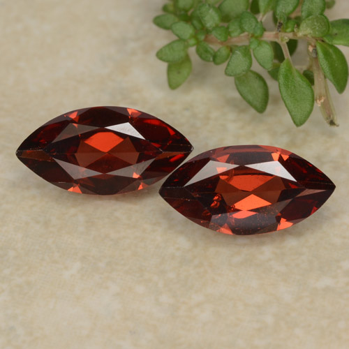 Red Pyrope Garnet Gem - 1.1ct Marquise Facet (ID: 479427)