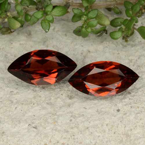 Red Pyrope Garnet Gem - 1.1ct Marquise Facet (ID: 479437)
